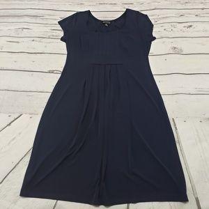 En Focus Studio Dress Size 8 Womens Blue Stretch